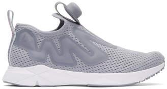 Reebok Classics Grey Pump Supreme Tape Sneakers