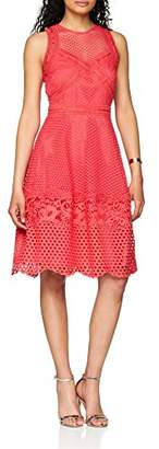 Little Mistress Women's Coral Crochet Party Dress,6