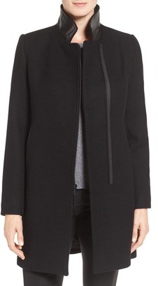 Trina Turk 'Adela' Asymmetrical Zip Notch Collar Coat $495 thestylecure.com