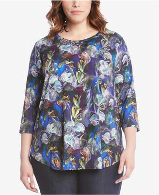 Karen Kane Plus Size Printed Top