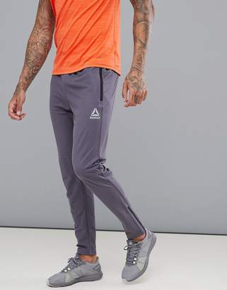 Reebok Training Work Out Ready Trackster Tapered Joggers In Grey CD5527