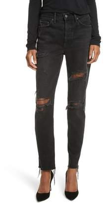GRLFRND Karolina Ripped Rigid High Waist Skinny Jeans