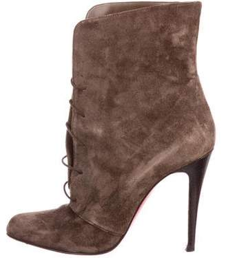 Christian Louboutin Suede Pointed-Toe Boots