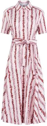 Burberry Scribble Stripe Shirt Dress