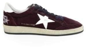 Golden Goose Men's Men's Suede Ball Star Sneakers - Bordeaux - Size 39 (6)