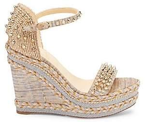 Christian Louboutin Women's Mad Monica 120 Platform Wedge Sandals