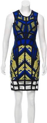 Herve Leger Karmelle Jacquard Dress