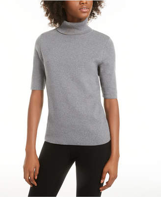 Alfani Elbow-Sleeve Turtleneck Sweater