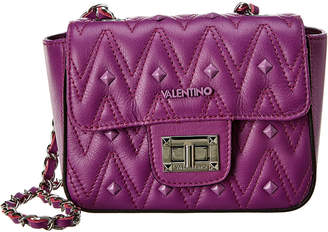 Mario Valentino Valentino By Vivian D Sauvage Studs Leather Shoulder Bag