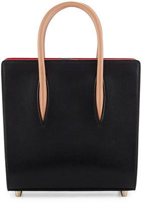 Christian Louboutin Christian Louboutin Paloma Small Calf Tote Bag, Black/Brown