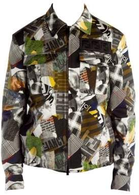 Fendi Show Graphic Shirt Jacket