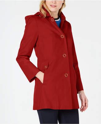 Anne Klein Petite Hooded Raincoat