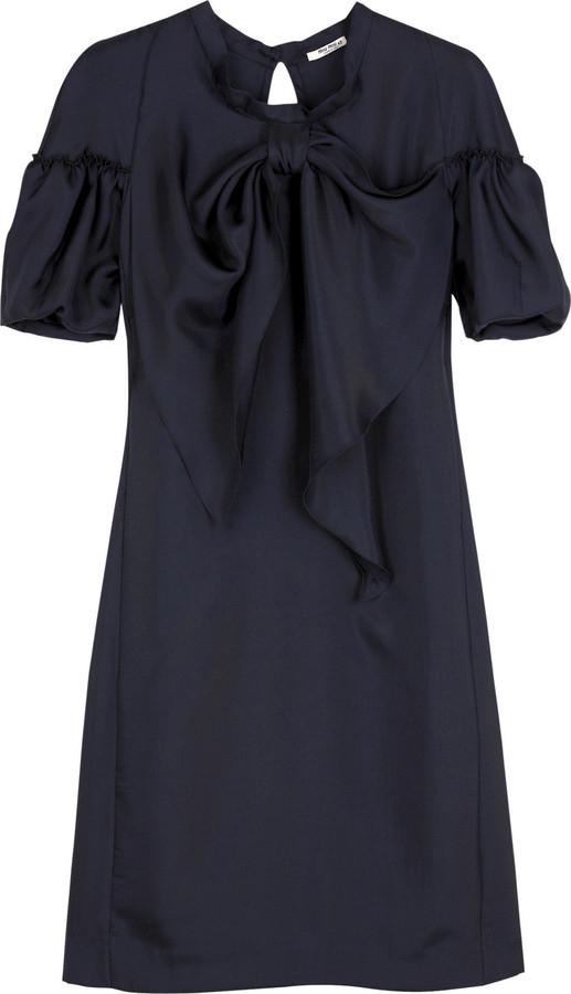Miu Miu Bow twill dress