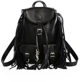 Saint Laurent Festival Small Leather Backpack $1,550 thestylecure.com