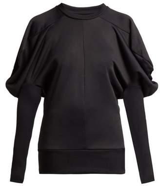 Marques Almeida Marques'almeida - Puff Shoulder Cotton Blend Jersey Top - Womens - Black