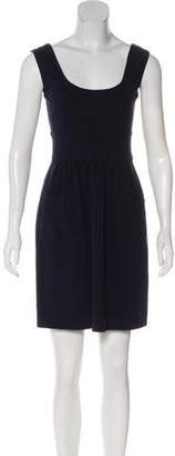 Diane von Furstenberg Sleeveless Scoop Neck Mini Dress