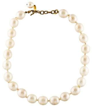 Chanel Faux Pearl Strand Necklace