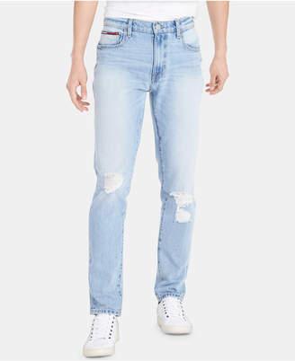 d37f2231b Tommy Hilfiger Men Skinny-Fit Th Flex Stretch Distressed Jeans