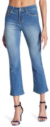 Alice + Olivia Bryce Cropped Flare Jeans