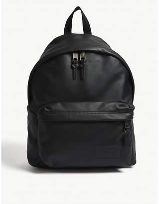 Eastpak Black Ink Woven Padded Pak'r Leather Backpack