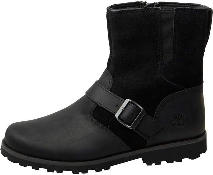 Junior Asphalt Trail Mid Buckle Boots Black