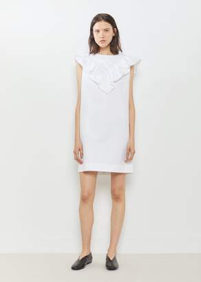 Atlantique Ascoli Vendredi Ruffle Front Dress White Blanc