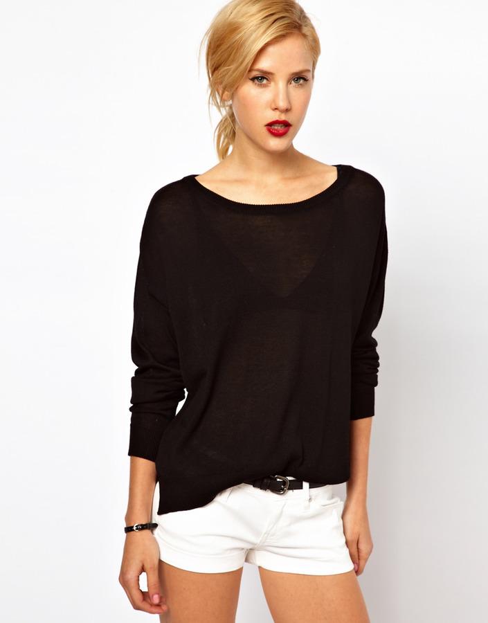 MANGO Slouchy Light Sweater