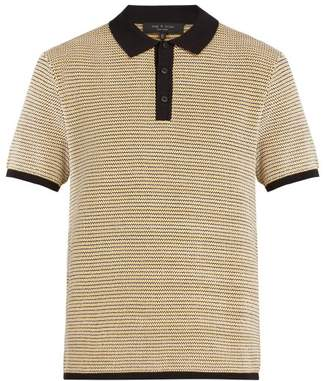 Rag & Bone Finn Knitted Polo Top - Mens - Gold