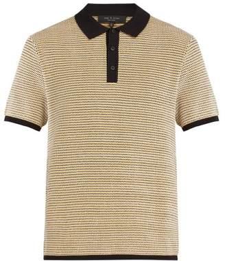 462deb72df5 Rag   Bone Finn Knitted Polo Top - Mens - Gold