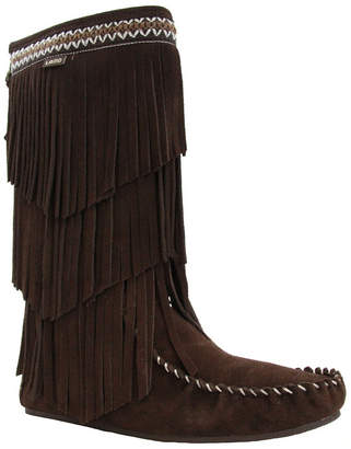 Lamo Women Virginia Tall Fringe Boots Women Shoes