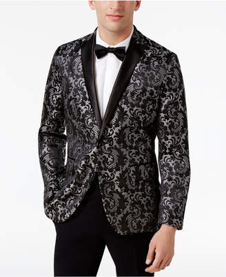 INC International Concepts Men's Slim-Fit Jacquard Blazer, Only at Macy's $129.50 thestylecure.com