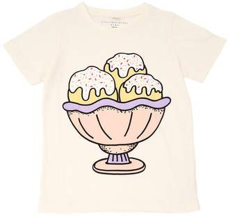 Stella McCartney Ice Cream Glitter Cotton Jersey T-Shirt