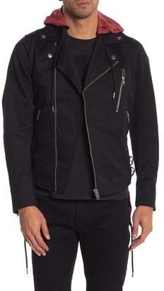 Diesel Front Zip Hooded Hi-Lo Jacket