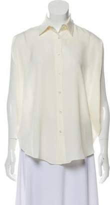 Adam Silk Sleeveless Button-Up Shirt