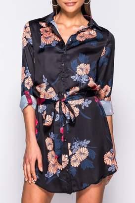 Pink Poodle Boutique Floral Shirt Dress