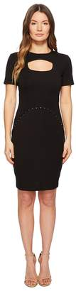 Versace Short Sleeve Dress w/ Cut Out Women's Dress