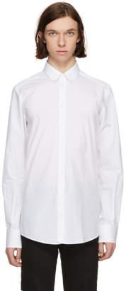 Dolce & Gabbana White Stud Collar Shirt