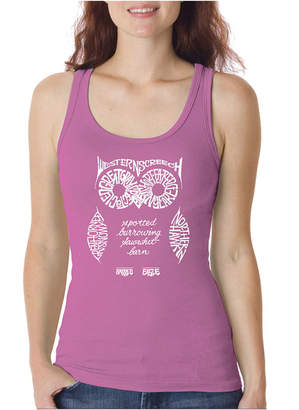 LOS ANGELES POP ART Los Angeles Pop Art Women's Tank Top - Owl