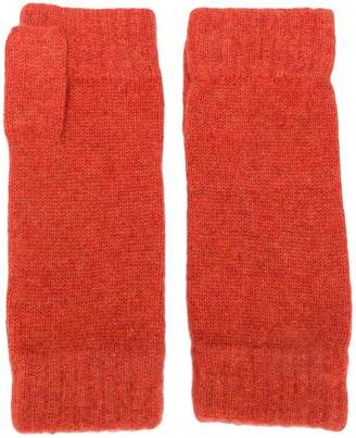 N.Peal finger-less knitted gloves
