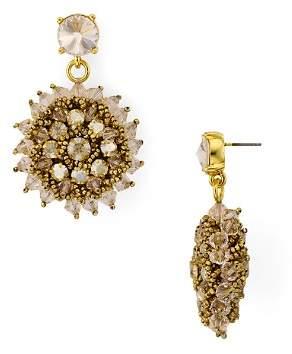 Oscar de la Renta Beaded Starburst Drop Earrings