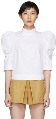 Chloé White High Neck Blouse