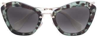 Miu Miu speckled cat-eye sunglasses