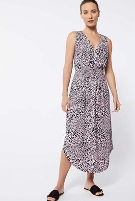 Witchery Print V Neck Midi Dress