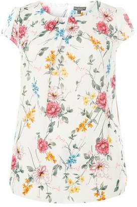 Dorothy Perkins Womens **Billie & Blossom Curve White Floral Print Shell Top