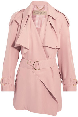 Burberry - Draped Slub Silk Jacket - Blush $1,995 thestylecure.com