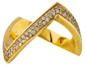 Jennifer Meyer 18K Diamond V Ring