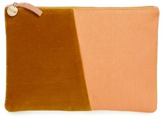 Clare V. Half And Half Mixed Media Clutch - Yellow $235 thestylecure.com