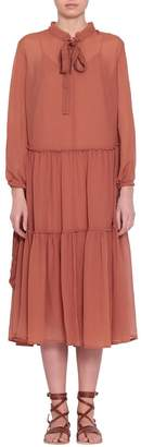 See by Chloe Silk-blend Crepon Dress