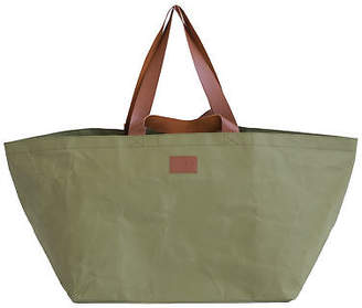 NEW Washable Kraft Paper Beach Bag in Olive by KOLLAB
