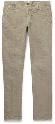 Incotex Slim-Fit Stretch-Cotton Chinos - Men - Neutral